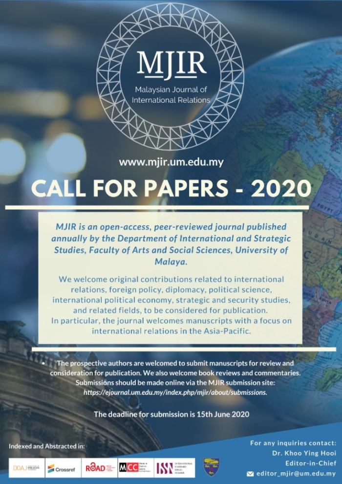 MJIR Call for Papers 2020